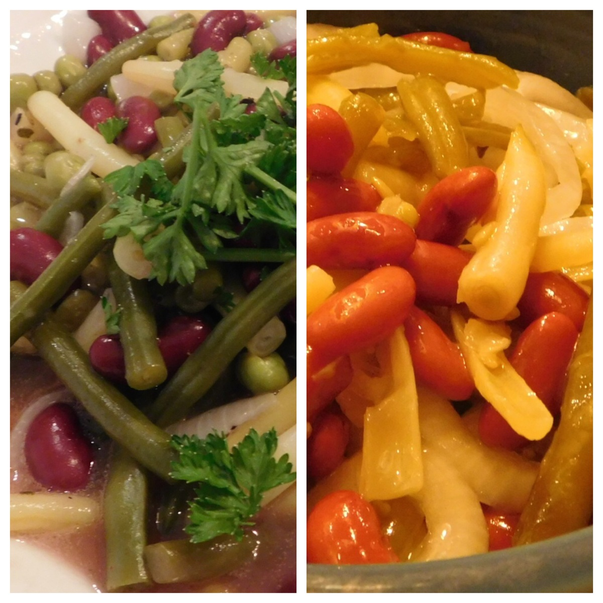 Sweet and Sour Bean Combo vs 4 Bean Salad
