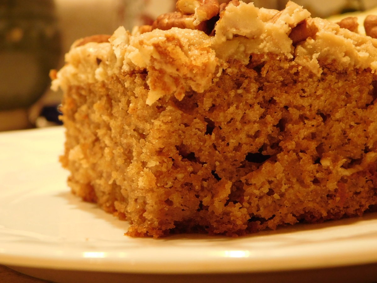 Apple Butter Cake with Caramel Icing