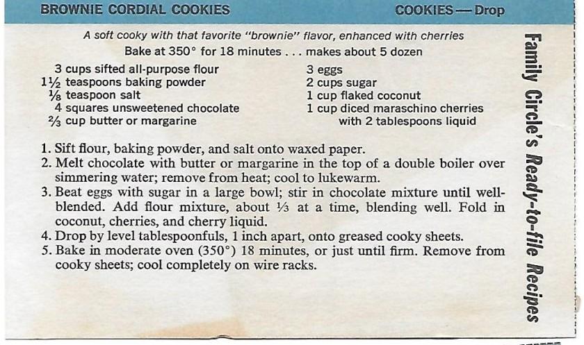 Brownie Cordial Cookies