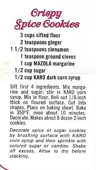 Crispy Spicy Cookies