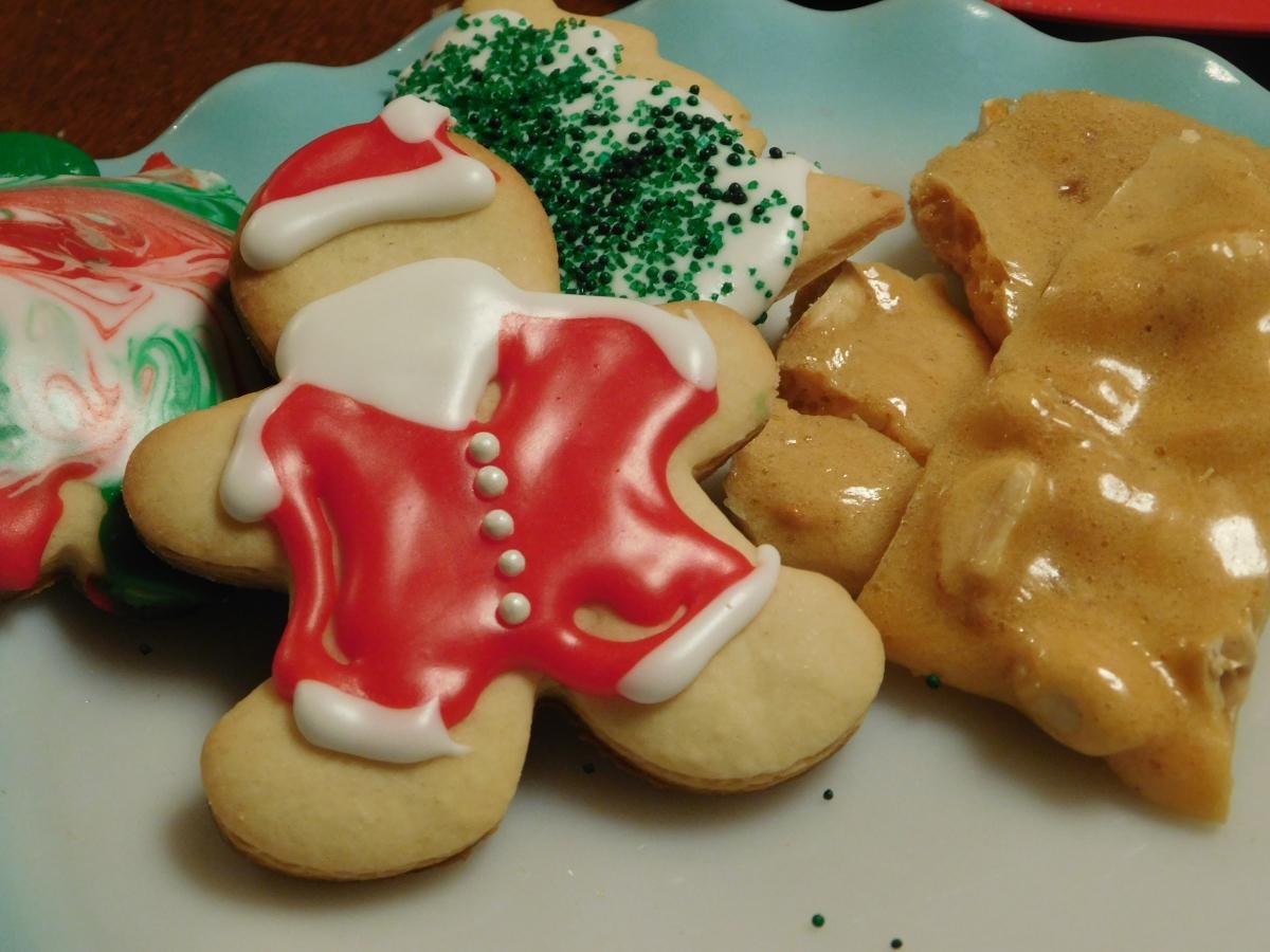 Christmas Sugar Cookies and PeanutBrittle