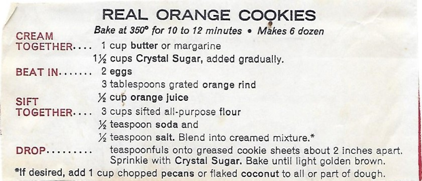 Real Orange Cookies
