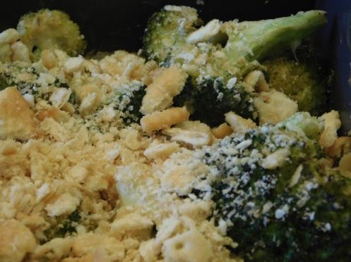 Broccoli Casserole Saltine top