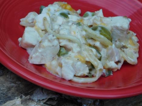 Chicken Tetrazzini Plate